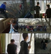 Подготовка к Дню Победы в студенческом общежитии.