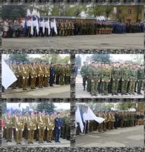 Студенты колледжа имени Н.М.Полежаева приняли участия в традиционном параде Великой Победы.